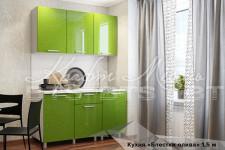 Кухня Блестки Олива 1.5м (готовое решение)