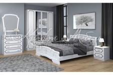 Спальный гарнитур Лак (Белый жемчуг)