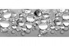 Фартук для кухни Текстуры 60 Серебрянные капли