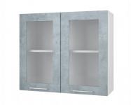 Шкаф-витрина со стеклом 800 Лофт