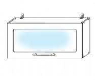 ПГC800 Шкаф верхний горизонтальный со стеклом Лофт