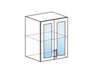 Шкаф верхний со стеклом (600х716х314) ШВС600 Дина ЛДСП