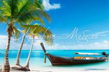 Фартук для кухни ABS Морской берег 19 Солнечный пляж