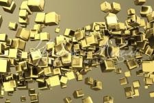 Фартук для кухни Абстракция 76 Золотые кубики